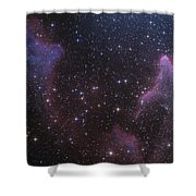 Ic 59 And Ic 63 Near Gamma Cas Shower Curtain