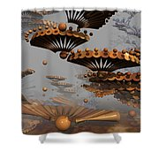 Icarus' New Wings Shower Curtain