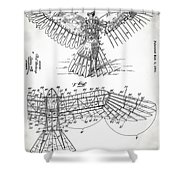 Icarus Patent 1889 Shower Curtain