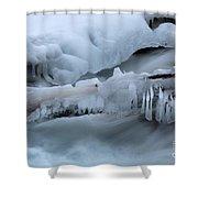 Ice 13 Shower Curtain