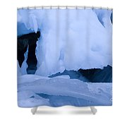 Ice 18 Shower Curtain