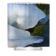 Ice 22 Shower Curtain