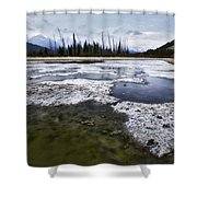Ice And Water Vermilion Lakes Shower Curtain