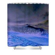 Ice Blue Stone Shower Curtain