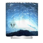 Ice Cave, Appa Glacier, Pemberton Ice Shower Curtain