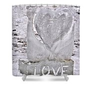 Ice Cold Love Shower Curtain