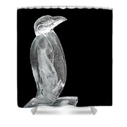 Ice Cold Penguin Shower Curtain