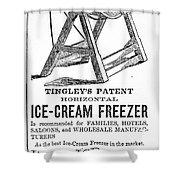 Ice Cream Freezer, 1872 Shower Curtain