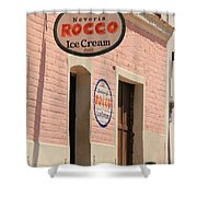 Ice Cream Shop In Todos Santos Shower Curtain