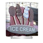 Ice Cream Sign Shower Curtain