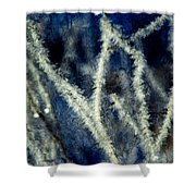 Ice Crystals - Abstract Shower Curtain