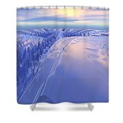 Ice Fissure Shower Curtain