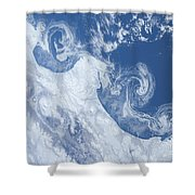 Ice Floes Along The Coastline Shower Curtain