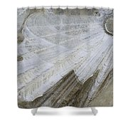 Ice Patterns On Pond, Alberta Canada Shower Curtain