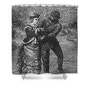 Ice Skating, 19th Century Shower Curtain