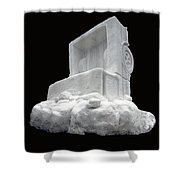 Ice Snow Truckers Shower Curtain