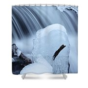 Ice Tombstone Frozen In Time Shower Curtain