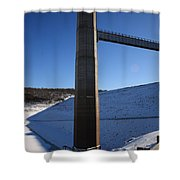 Ice Tower Catwalk 2 Shower Curtain