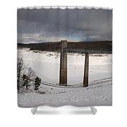 Ice Tower Catwalk Shower Curtain