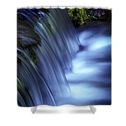 Ice Water Blue Shower Curtain