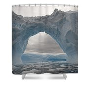 Iceberg With A Natural Arch, Antarctic Shower Curtain