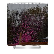Icee Pink Cold Water Challenge Shower Curtain