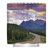 Icefields Parkway, Jasper National Shower Curtain