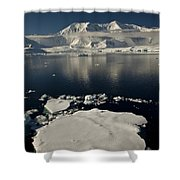 Icefloe In The Neumayer Channel Shower Curtain