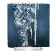 Icicle Formation Shower Curtain