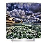 Iconic Landmarks Shower Curtain