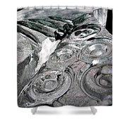 Icy Climb To The Christmas Tree Shower Curtain