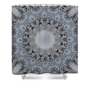 Icy Mandala 4 Shower Curtain