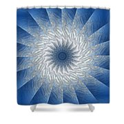 Icy Mandala 7 Shower Curtain
