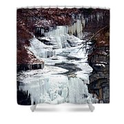 Icy Waterfalls Shower Curtain