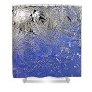 Icy Window Pane Shower Curtain