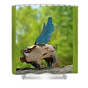 If Pigs Could Fly Shower Curtain