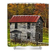 If These Walls Could Talk Painted Shower Curtain