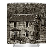 If These Walls Could Talk Sepia Shower Curtain