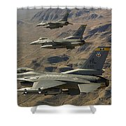 Ighter Jets Return From The Nevada Test Shower Curtain