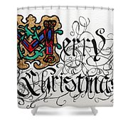 Illuminated Letter M Shower Curtain