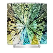 Illumination Of The Glass Butterfly Shower Curtain