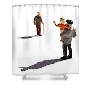 Illustration Of Elderlys Shower Curtain