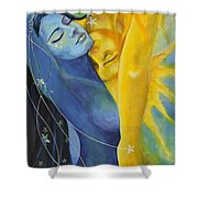 Ilusion From Impossible Love Series Shower Curtain by Dorina  Costras
