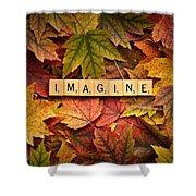 Imagine-autumn Shower Curtain