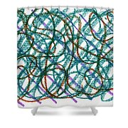 Imagined Congestion Shower Curtain