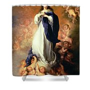 Immaculate Conception Of The Escorial Shower Curtain