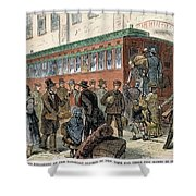 Immigrants, Nyc, 1880 Shower Curtain