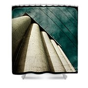 Impending Doom Shower Curtain by Andrew Paranavitana