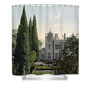 Imperial Castle In Alupku -ie Alupka -  Crimea - Russia - Ukraine Shower Curtain
