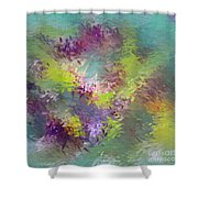 Impressionistic Abstract Shower Curtain